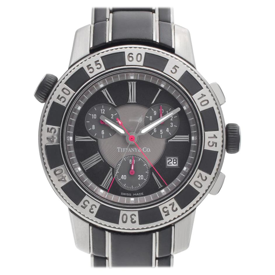 Tiffany & Co. Resonator Mark T-57 Stainless Steel Grey Dial Quartz Watch