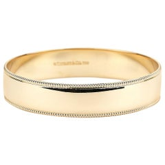 Tiffany & Co. Retired Beaded Edge Bangle in Yellow Gold