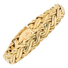 Tiffany & Co. Retro 14 Karat Gold Bracelet