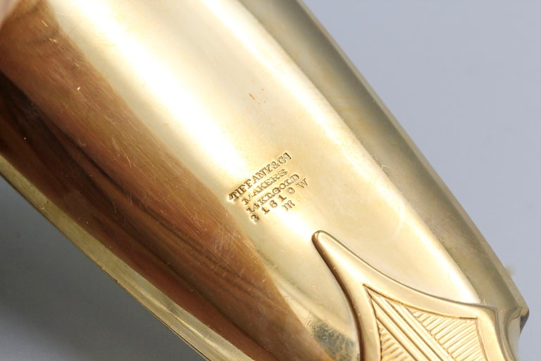Women's or Men's Tiffany & Co. Retro 14 Karat Gold Shoehorn For Sale