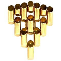 Tiffany & Co. Retro Art Deco Yellow Gold Bullet Clip Brooch