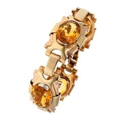 Tiffany & Co. Retro Gold and Citrine Bracelet