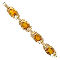 Tiffany & Co. Retro Gold and Citrine Bracelet
