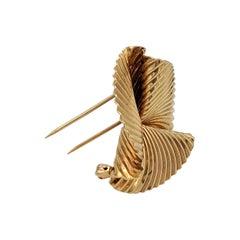 Tiffany & Co. Retro Gold Swirl Pin