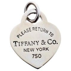 Tiffany & Co. Return To Tiffany 18k White Gold Heart Tag Charm Pendant