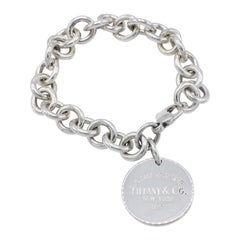 Tiffany & Co. Return to Tiffany Sterling Silver Disc Charm Link Bracelet