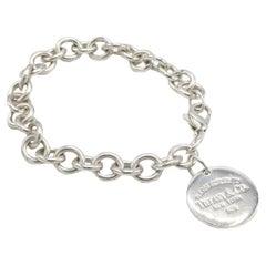 Tiffany & Co. Return to Tiffany Sterling Silver Disc Charm Link Bracelet