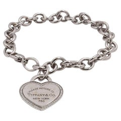 Tiffany & Co. 'Return to Tiffany' White Gold Diamond Bracelet