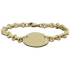 Tiffany & Co. Return Yellow Gold Chain Bracelet