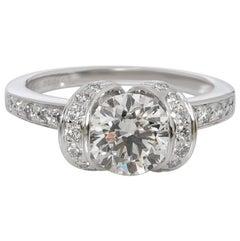 Tiffany & Co. Ribbon Diamond Engagement Ring in Platinum H VS1 1.32 Carat