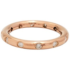 Tiffany & Co. Rose Gold and Diamond Stacking Band Ring