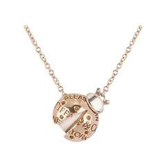 Tiffany & Co. Rose Gold and Silver Ladybug Pendant