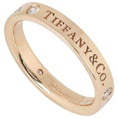 Tiffany & Co. Rose Gold Diamond Band Ring