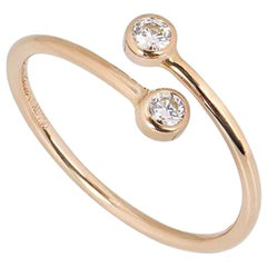 Tiffany & Co. Rose Gold Diamond Elsa Peretti Ring