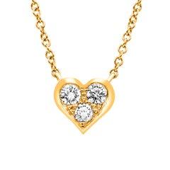 Tiffany & Co. Rose Gold Diamond Heart Pendant
