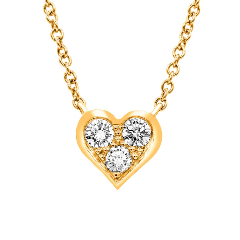 99dcc4683 Tiffany And Co Rose Gold Diamond Heart Pendant At 1stdibs