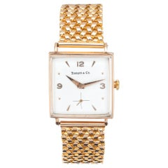 Tiffany & Co. Rose Gold Universal Genève Midcentury Wristwatch