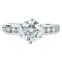 Tiffany & Co. Round 1.37 Carat Center Engagement Ring GVS1