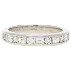 Tiffany & Co. Round and Baguette Cut Diamond Half Eternity in Platinum