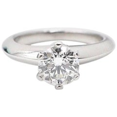 Tiffany & Co. Round Brilliant 0.75ct H VS1 Diamond & Platinum Engagement Ring