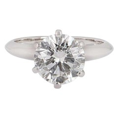 Tiffany & Co. Round Brilliant Cut Diamond Ring 2.35 Carat GIA Certified
