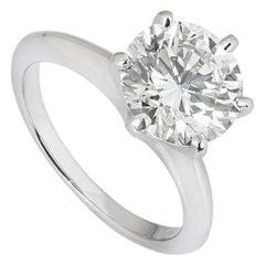 Tiffany & Co. Round Brilliant Cut Diamond Engagement Ring 2.80 Carat