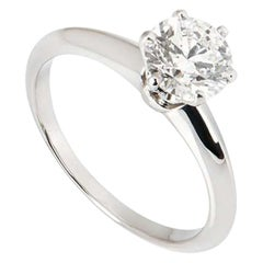Tiffany & Co. Round Brilliant Cut Diamond Ring 1.14 Carat GIA Certified