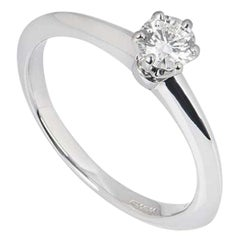 Tiffany & Co. Round Brilliant Cut Diamond Solitaire Engagement Ring 0.32 Carat