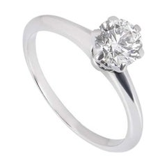 Tiffany & Co. Round Brilliant Diamond Engagement Ring 1.02 Carat GIA Certified