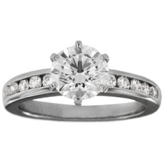 Tiffany & Co. Round Cut Engagement Ring 1.61 Carat in Platinum