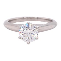 Tiffany & Co. Round Diamond 1.03 Carat G VS1 Solitaire Ring in Platinum