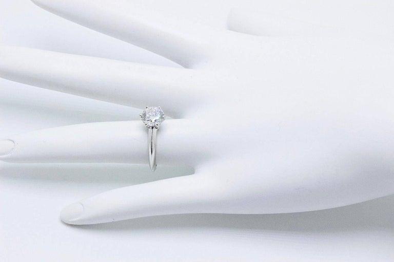 27e8e808e81 Tiffany   Co. Round Diamond 1.33 cts G VVS1 Platinum Engagement Ring For  Sale 3