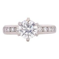 Tiffany & Co. Round Diamond 1.34 Tcw Channel Set Diamond Band Engagement Ring