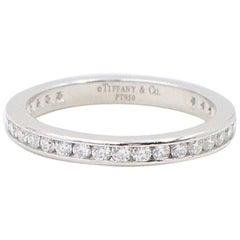 Tiffany & Co. Round Diamond Full Circle Wedding Band Ring Platinum