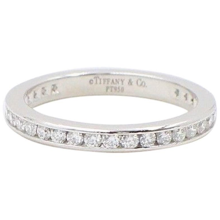 c7502fb2c Tiffany & Co. Round Diamond Full Circle Wedding Band Ring Platinum For Sale