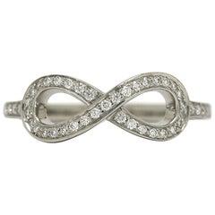 Tiffany & Co. Round Diamond Infinity Ring Platinum Band