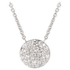 Tiffany & Co. Round Diamond Pendant in 18 Karat White Gold '0.29 CTW'