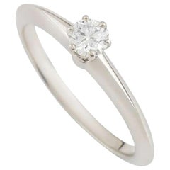 Tiffany & Co. Round Diamond Platinum Solitaire Engagement Ring 0.21 Carat