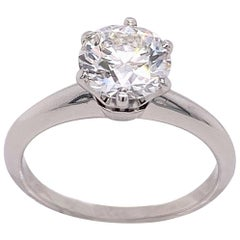 Tiffany & Co. Round Diamond Solitaire 1.27 Carat G VS1 Ring in Platinum