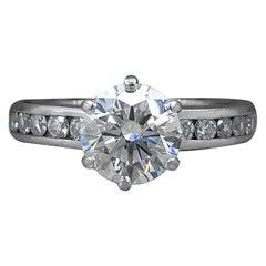 Tiffany & Co. Round G VS2 1.91 Carat Channel Set Diamond Band Ring Plat