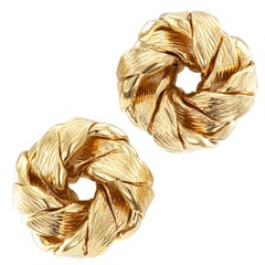 Tiffany & Co. Round Gold Knot Ear Clips