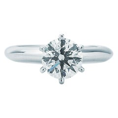 Tiffany & Co. Round Solitaire Engagement Ring 1.33 Carat HVS1