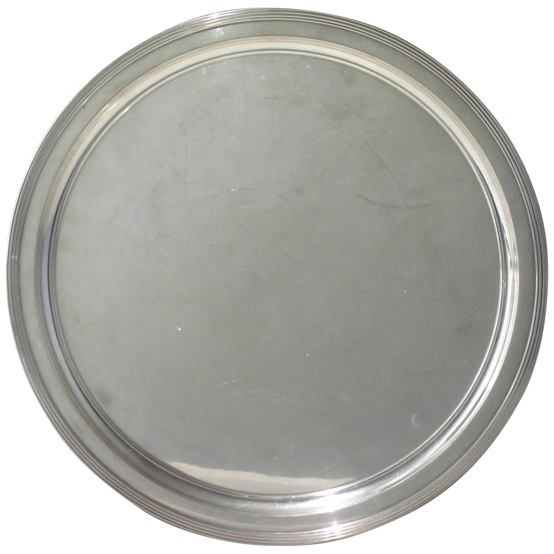 Tiffany & Co. Round Sterling Silver Tray