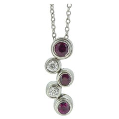 Tiffany & Co. Ruby and Diamond Bubble Pendant, Platinum