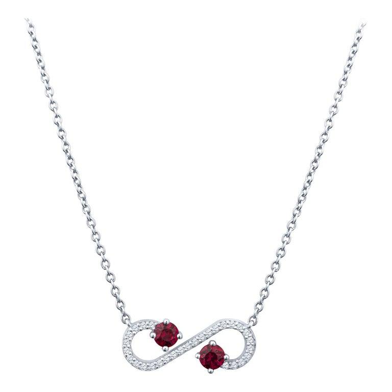 Tiffany & Co. Ruby and Diamond Enchant Platinum Pendant For Sale