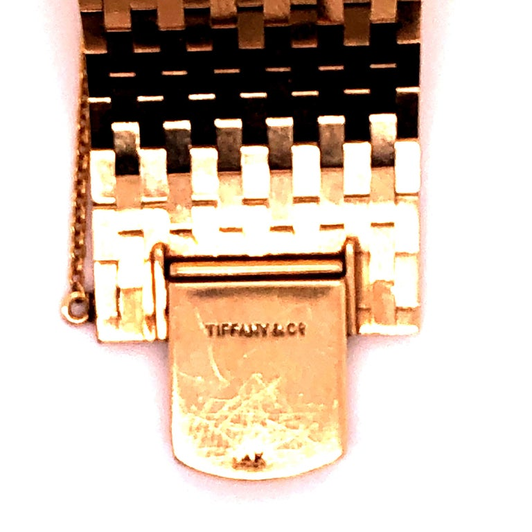 Tiffany & Co Ruby and Diamonds 14 Karat Gold Watch For Sale 2