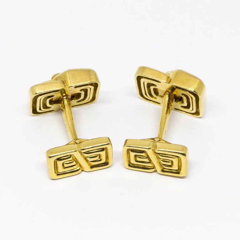Tiffany & Co. Ruby and Gold Cufflinks In Good Condition For Sale In London, GB