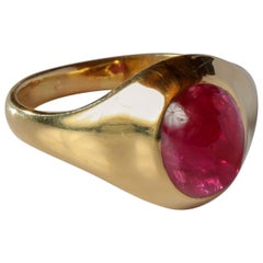 Tiffany & Co. Ruby Cabochon Ring circa 1960s Unisex