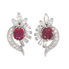 Tiffany & Co. Ruby Diamond Earclips