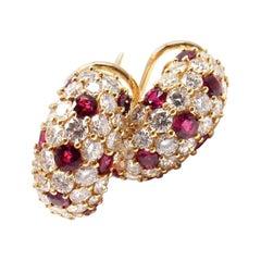 Tiffany & Co. Ruby Diamond Earrings